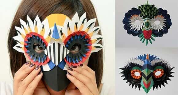 Как сделать и бумаги маску