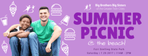 BBBS Summer Picnic @ The Beach! @ Fort Snelling State Park (Beach)